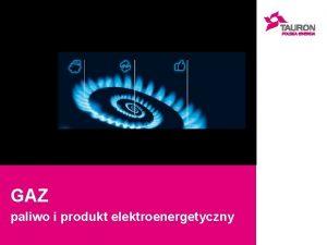 GAZ paliwo i produkt elektroenergetyczny GAZ Paliwo w