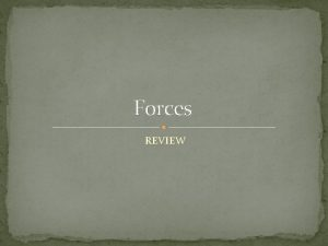 Forces REVIEW Two forces 360 N and 120