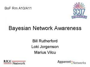 Bo F Rm A 10A 11 Bayesian Network