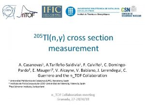 205 Tln cross section measurement A Casanovas 1