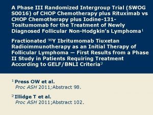 A Phase III Randomized Intergroup Trial SWOG S