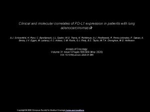 Clinical and molecular correlates of PDL 1 expression