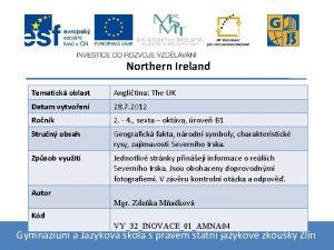 Northern Ireland Tematick oblast Anglitina The UK Datum