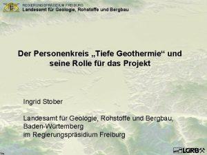 Title REGIERUNGSPRSIDIUM FREIBURG Landesamt fr Geologie Rohstoffe und