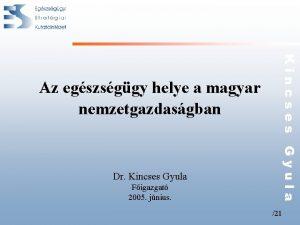 Dr Kincses Gyula Figazgat 2005 jnius Kincses Gyula