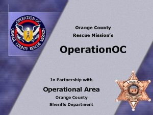 Orange County Rescue Missions Operation OC In Partnership