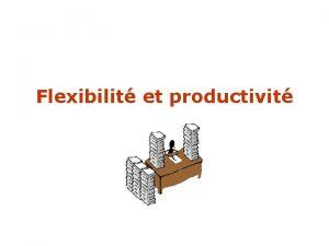Flexibilit et productivit A partir dun document de