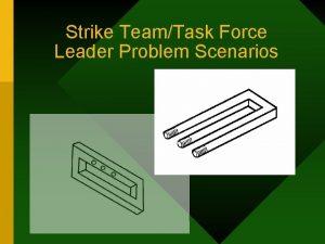Strike TeamTask Force Leader Problem Scenarios Strike TeamTask