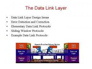 The Data Link Layer Data Link Layer Design