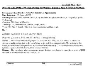 doc IEEE 802 15 doc Project IEEE P