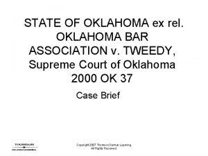 STATE OF OKLAHOMA ex rel OKLAHOMA BAR ASSOCIATION