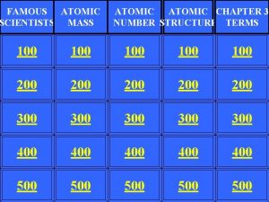 FAMOUS ATOMIC SCIENTISTS MASS ATOMIC CHAPTER 3 NUMBER