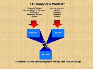 Mindsets Action proceeding from Values and Factual Beliefs
