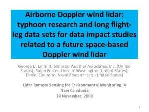 Airborne Doppler wind lidar typhoon research and long