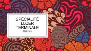 SPCIALIT LLCER TERMINALE 2020 2021 Terminale 6 heuressemaine