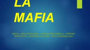 LA MAFIA MAXI PROCESSO OPERAZIONE AEMILIA PEPPINO IMPASTATO