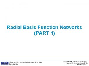 Radial Basis Function Networks PART 1 Neural Networks