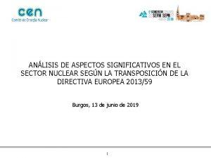 ANLISIS DE ASPECTOS SIGNIFICATIVOS EN EL SECTOR NUCLEAR
