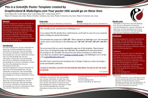 This is a Scientific Poster Template created by