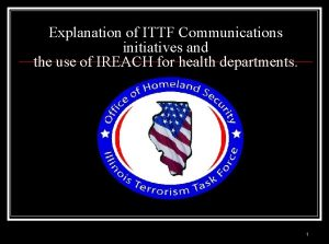 Explanation of ITTF Communications initiatives and the use