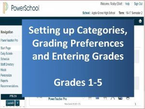 Setting up Categories Grading Preferences and Entering Grades
