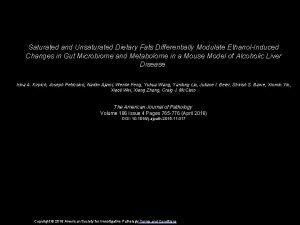 Saturated and Unsaturated Dietary Fats Differentially Modulate EthanolInduced