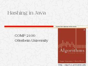 Hashing in Java Computer Science Engineering Otterbein University