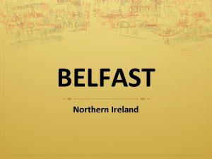 BELFAST Northern Ireland Mirt Belfast Mirt Erasmus Angol