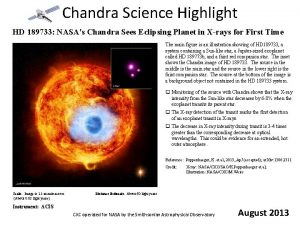 Chandra Science Highlight HD 189733 NASAs Chandra Sees