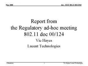 May 2000 doc IEEE 802 15 00129 r