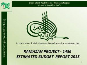 Green Island Youth Forum Ramazan Project www youth