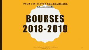 POUR LES LVES NON BOURSIERS EN 2017 2018