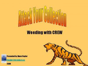 Weeding with CREW Presented by Dawn Vogler dvoglertsl