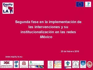 Segunda fase en la implementacin de las intervenciones
