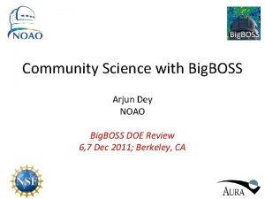 Big BOSS Community Science with Big BOSS Arjun