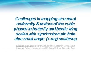 Challenges in mapping structural uniformity texture of the