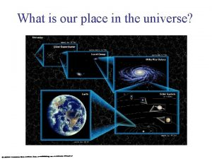 What is our place in the universe Star