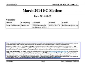 March 2014 doc IEEE 802 19 140031 r