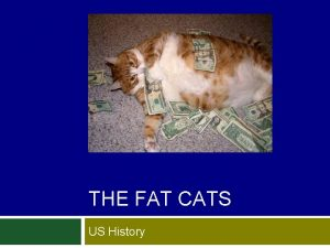 THE FAT CATS US History The Fat Cats