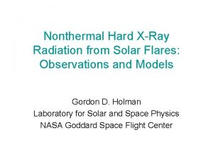 Nonthermal Hard XRay Radiation from Solar Flares Observations