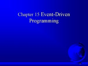 Chapter 15 EventDriven Programming 1 Motivations Suppose you