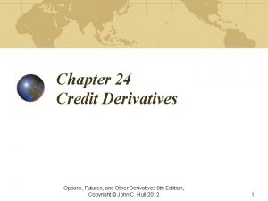 Chapter 24 Credit Derivatives Options Futures and Other
