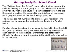 Getting Ready For School Visual The Getting Ready