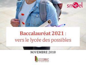 Baccalaurat 2021 vers le lyce des possibles NOVEMBRE
