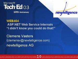 WEB 404 ASP NET Web Service Internals I