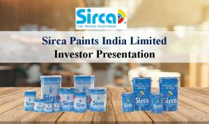 Sirca Paints India Limited Investor Presentation 1 Table