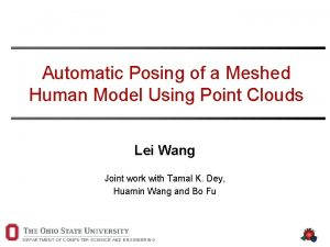 Automatic Posing of a Meshed Human Model Using