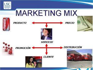 MARKETING MIX PRODUCTO PRECIO SERVICIO DISTRIBUCIN PROMOCIN CLIENTE