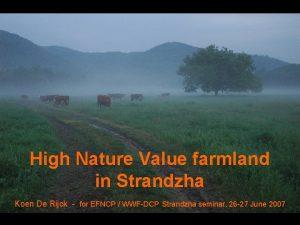 High Nature Value farmland in Strandzha Koen De