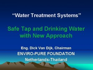 Water Treatment Systems Safe Tap and Drinking Water